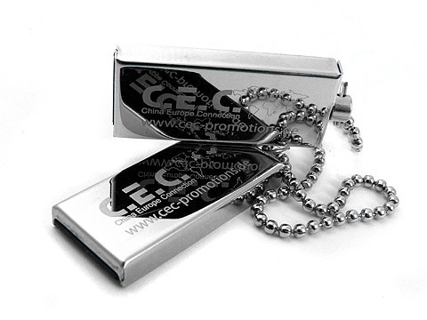 Mini USB Stick CEC Promotions metall graviert