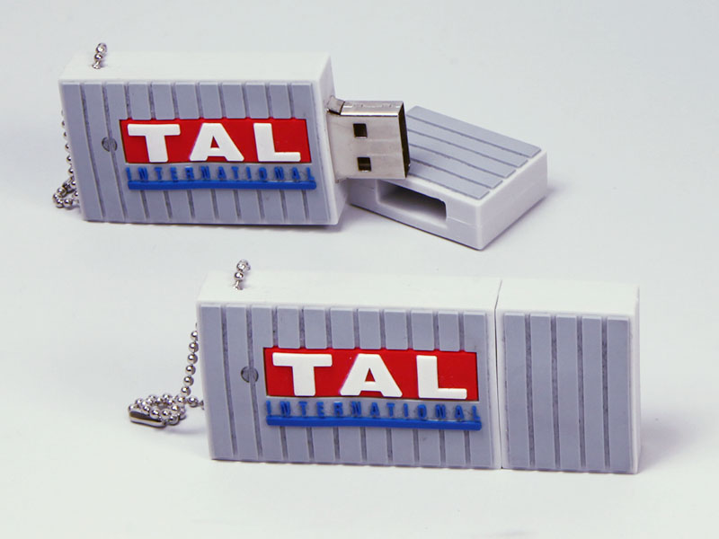 Seecontainer Container mit TAL Logo als individueller USB-Stick in Wunschform